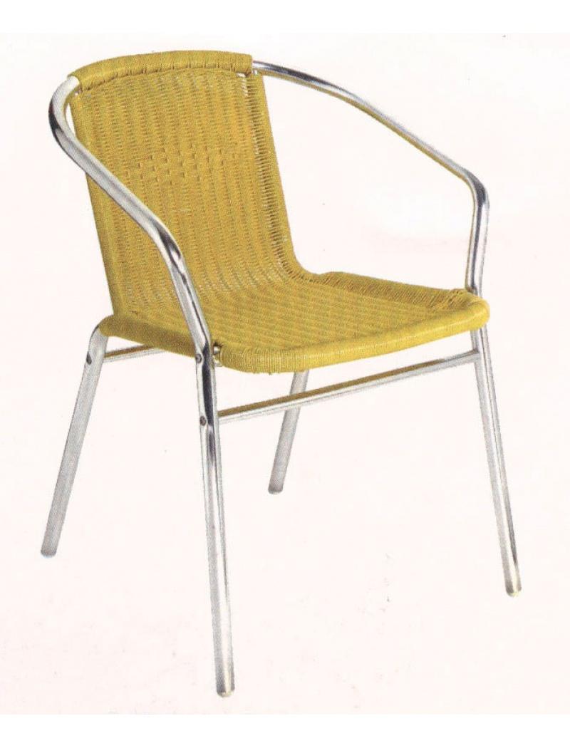 Chaise bistro aluminium et osier synthétique DAIS - Chaises ...