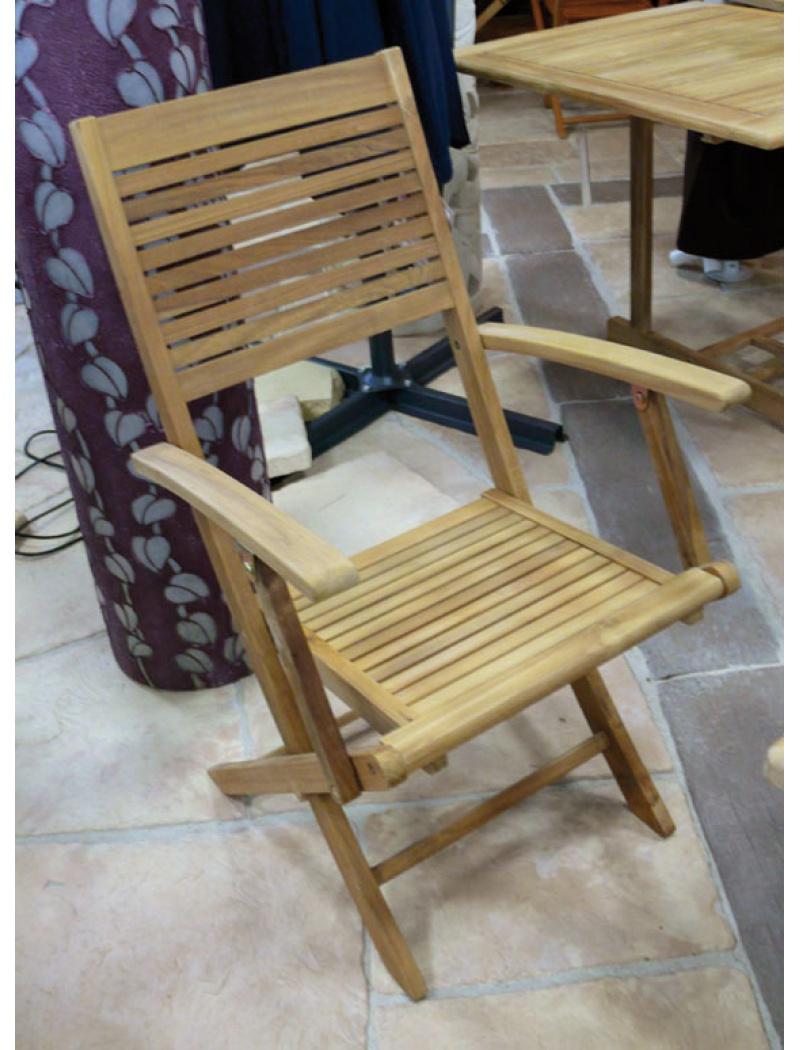 le fauteuil pliant en teck de la marque dream garden est confortable et solide c ette chaise en teck sera idale pour lire la suite - Fauteuil Bois Jardin