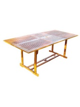 Table kussi rectangulaire à rallonge en teck