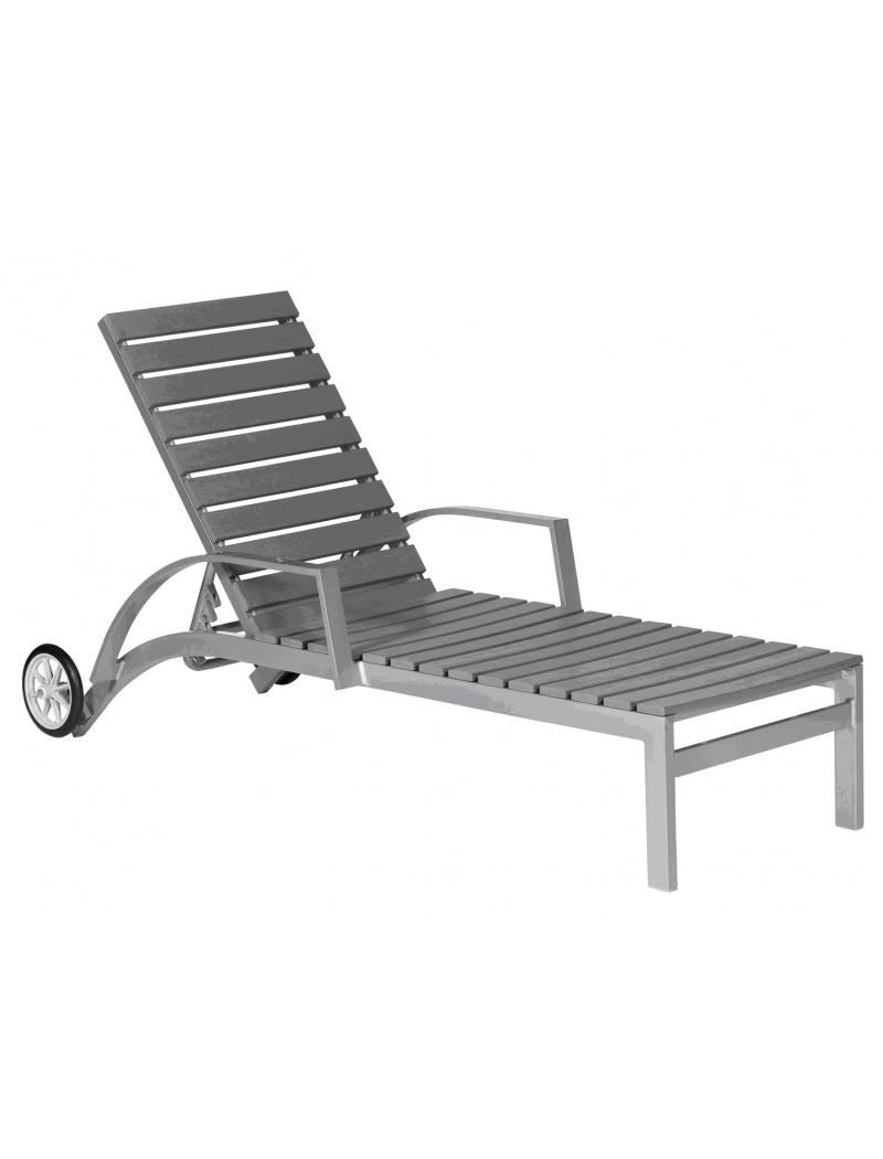 bain de soleil en polywood gris bains de soleil jardin. Black Bedroom Furniture Sets. Home Design Ideas