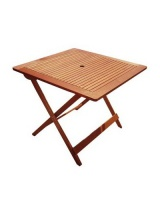 Table carré 90 cm pliante teck fsc