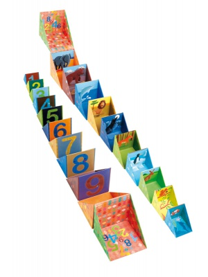 Pyramide Pop Box chiffres et animaux