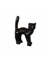 Chat taille S Debout Noir
