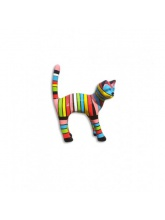Chat taille S Debout Multicolore