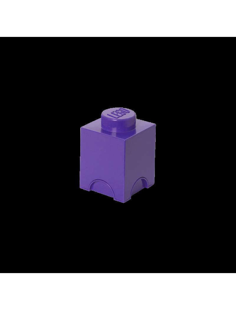 Brique de rangement Lego 1 plot - Lilas