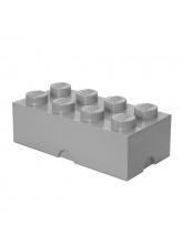 Brique de rangement Lego 8 plots - Gris