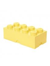Brique de rangement Lego 8 plots - Jaune clair