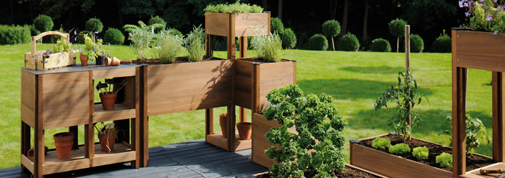 Mobilier de jardin en bois Burger : un vaste choi<a href=