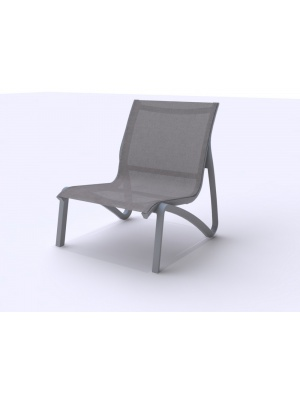 Fauteuil conversationnel Sunset Gris platinium