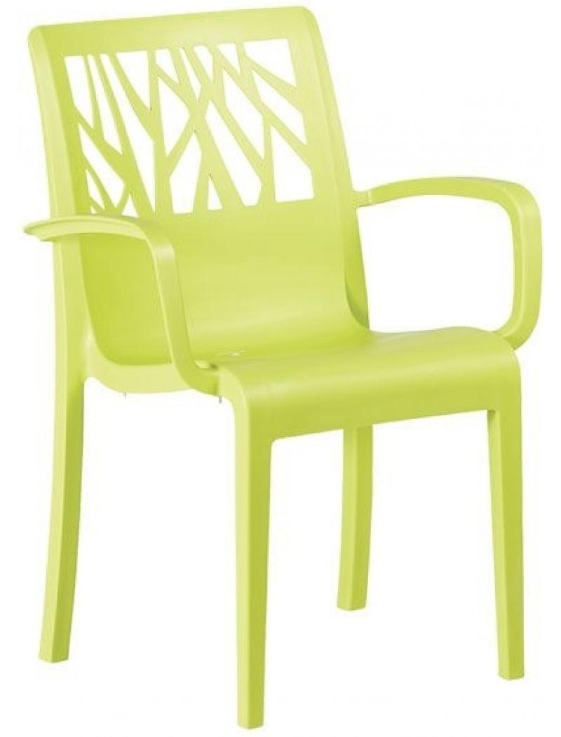 Fauteuil Vegetal Vert anis Grosfillex - Chaises et fauteuils ...