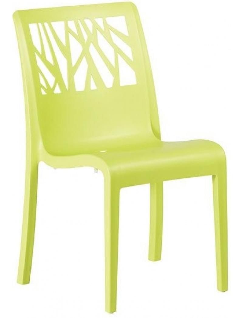 Chaise Vegetal Vert anis Grosfillex - Chaises et fauteuils - Jardin ...