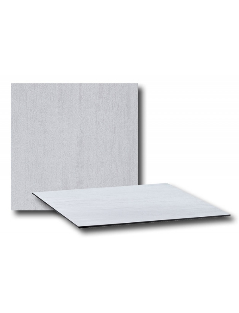 plateau compact 80x80cm blanc grosfillex - plateaux de table