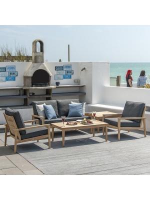 Salon de jardin bas Lounge en Roble