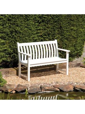 Banc Broadfield 125 cm en Cornis blanc