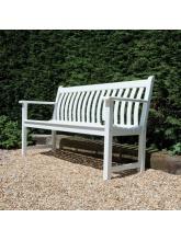 Banc Broadfield 147 cm en Cornis blanc