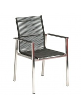 Fauteuil cologne empilable cordage