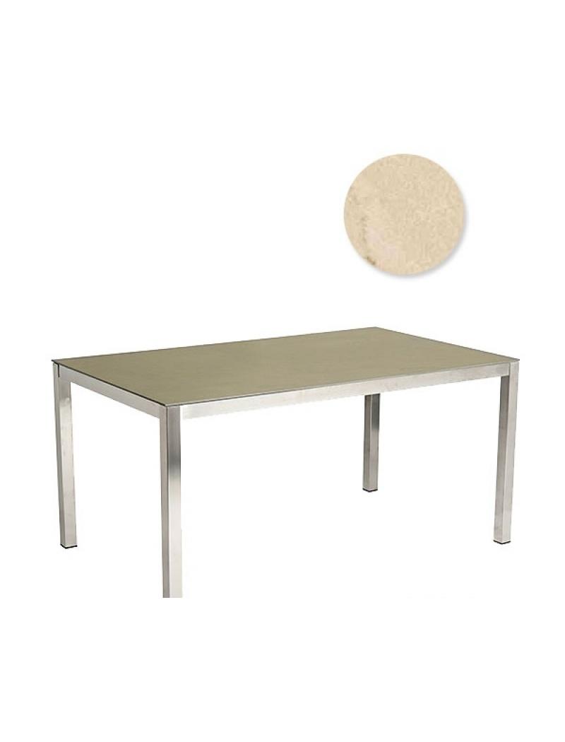 Table Cologne en Inox Ivoire Alexander Rose - Tables de jardin en ...