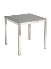 Table carrée Cologne en Inox Gris anthracite
