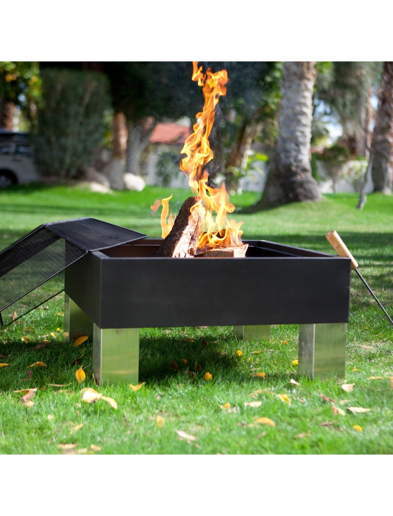 barbecue brasero square hotspot - barbecues charbon de bois - jardin