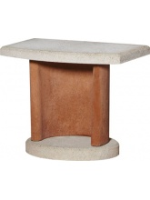 Table pour barbecue terracotta