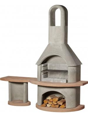 Barbecue/cheminée Carmen avec table