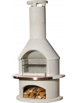 Barbecue/Cheminée Rondo white