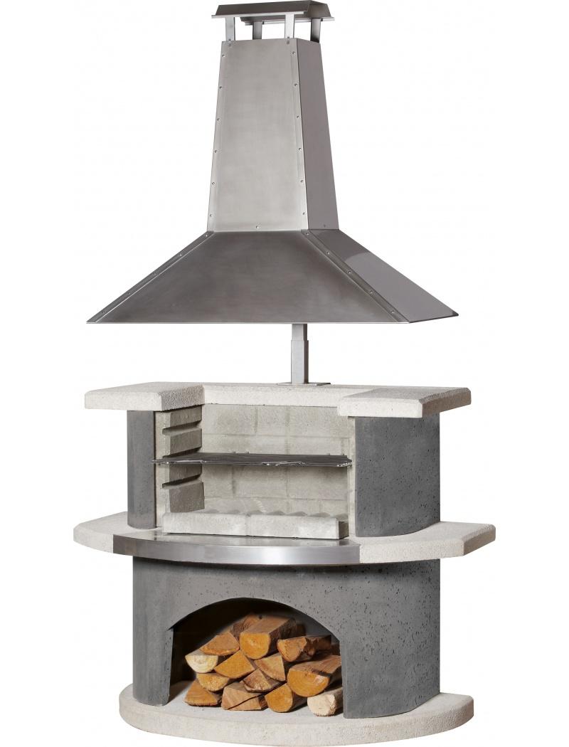 Barbecue chemin e z rich buschbeck barbecues charbon de bois jardin concept for Cheminee de jardin weber