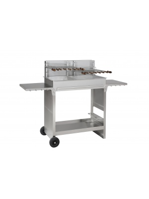 Chariot 800 inox pour Barbecue