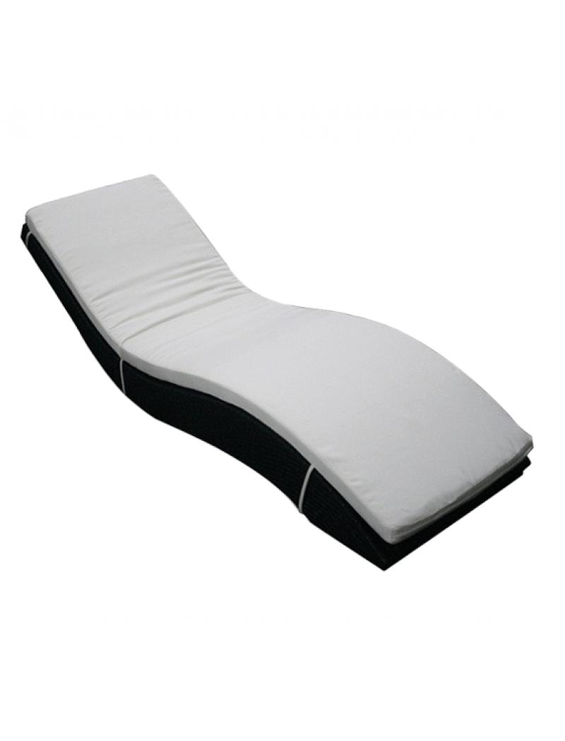 bain de soleil ondul avec matelas exterieur deco bains de soleil jardin concept. Black Bedroom Furniture Sets. Home Design Ideas