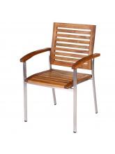 Lot de 4 fauteuils Norah empilables
