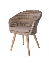 Lot de 4 fauteuils Marilyn en acacia