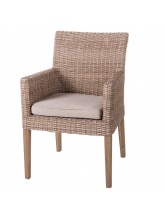 Lot de 2 chaises à manger Patsy beige naturel