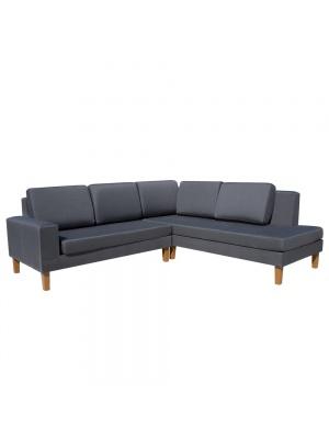 Canapé d'angle Leda en polyester gris