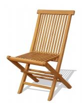 Chaise pliante teck brut