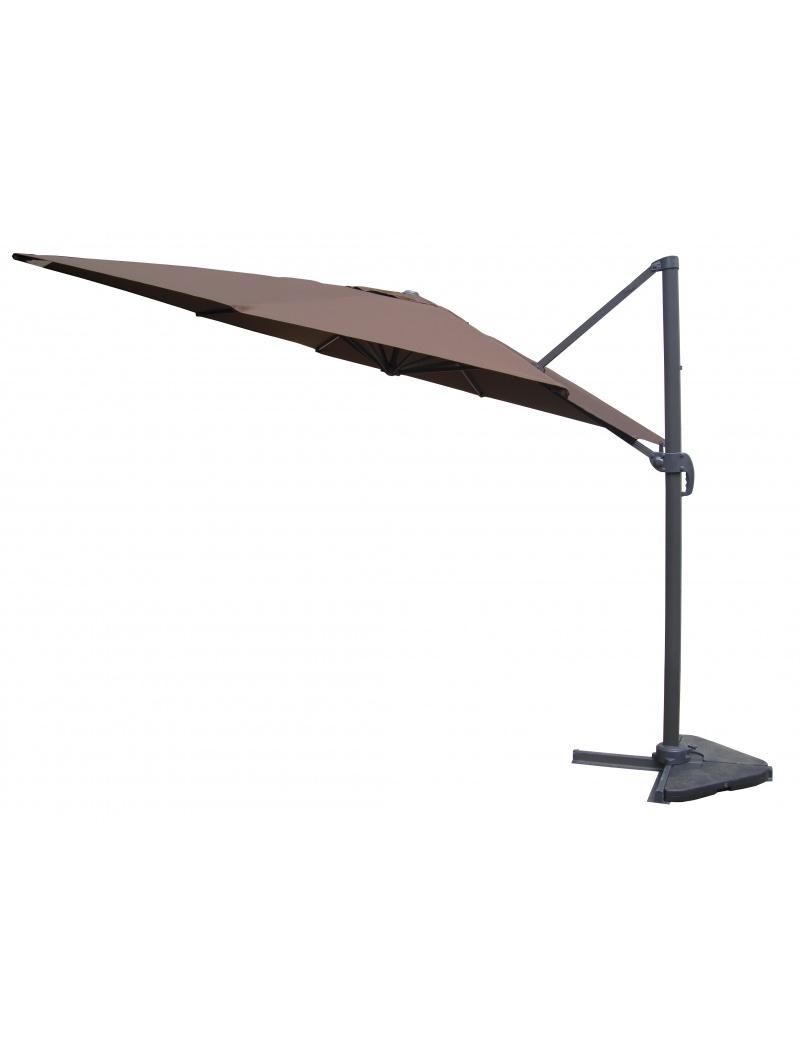 parasol rotatif m t d port chocolat exterieur deco parasol store jardin concept. Black Bedroom Furniture Sets. Home Design Ideas