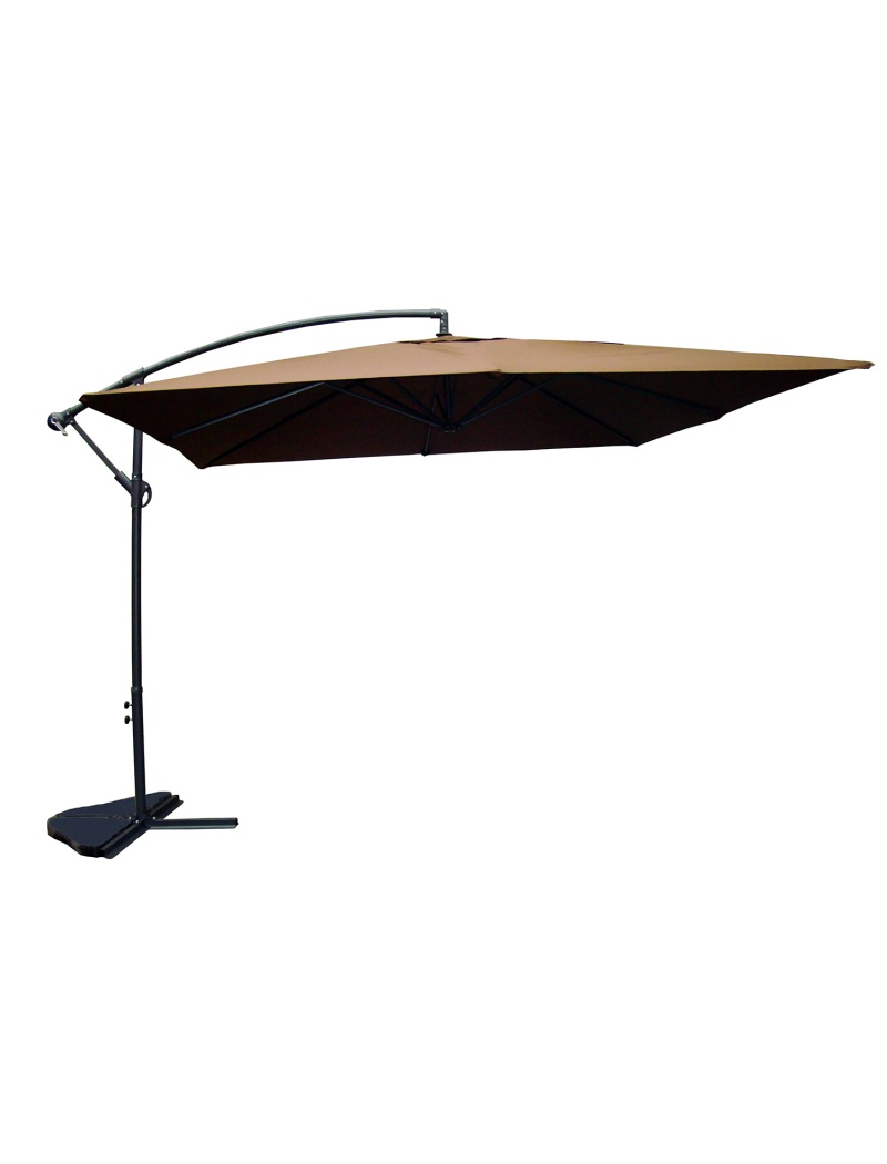 parasol carr 3x3 chocolat exterieur deco parasol. Black Bedroom Furniture Sets. Home Design Ideas