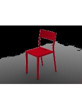 Chaise Take rouge en aluminium