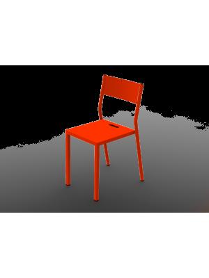 Chaise Take orange en aluminium
