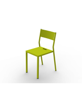 Chaise Take vert anis en aluminium