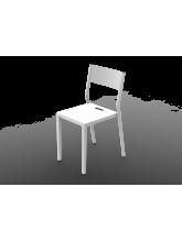 Chaise Take blanche en aluminium