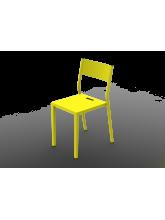 Chaise Take jaune souffre en aluminium