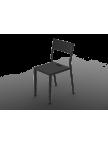 Chaise Take noire en aluminium