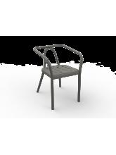 Fauteuil Helm taupe en aluminium