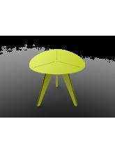 Table triangle Loom aluminium vert anis