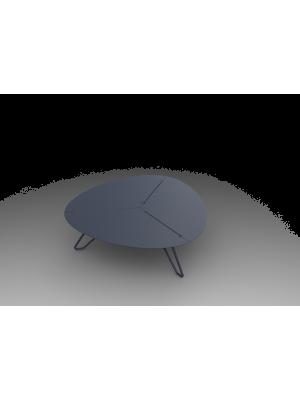 Table basse Loom aluminium gris
