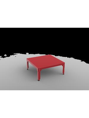 Table basse carrée Hégoa rouge