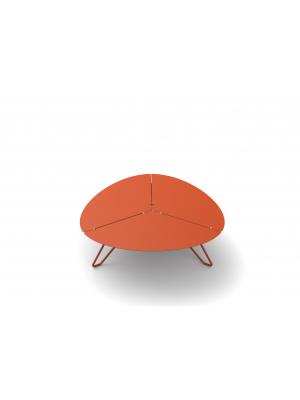 Table basse Loom aluminium orange