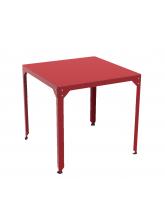 Table repas carrée Hégoa rouge