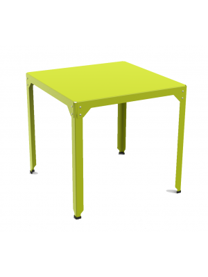 Table repas carrée Hégoa vert anis