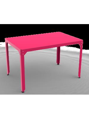 Table repas rectangle Hégoa rose vif